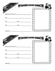 English Worksheets: My favorite movie character