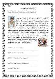 English Worksheets: Reading Comprehension Test / Activity