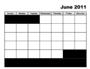 English Worksheets: calendars.JUNE-JULY..blank.doc