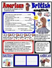English Worksheets: American-British Englsih
