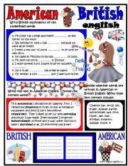 English Worksheet: American-British Englsih