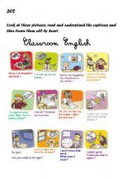English Worksheet: Classroom english