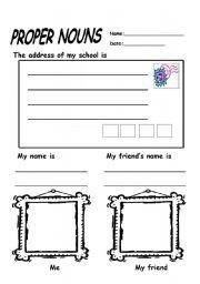 English Worksheet: Proper Nouns