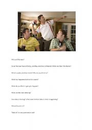 English Worksheets: picture associations - three men