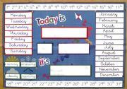 English Worksheets: Today is...