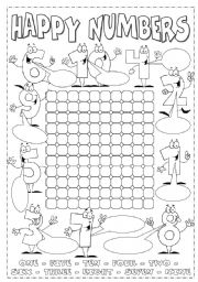 Numbers from 1 to 10 - ESL worksheet by Alenka