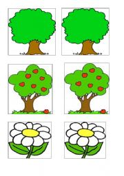 English Worksheets: Nature - Matching cards or memory game