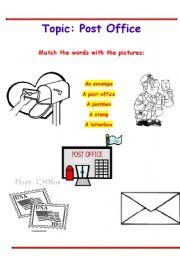English Worksheet: POST OFFICE VOCABULARY WORKSHEET