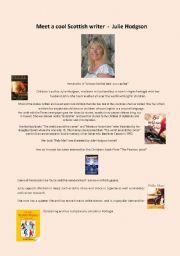 English Worksheets: Meet a cool Scottish writer - Julie Hodgson