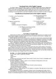 English Worksheets: Stylistics