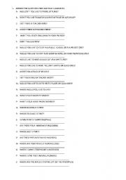 English Worksheets: ELEMENTARY QUESTIONS