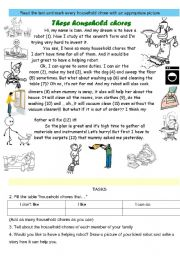 English Worksheets: THESE HOUSEHOLD CHORES