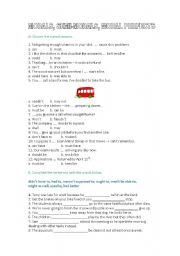 English Worksheet: MODAL VERBS/ MODAL PERFECT