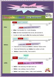 English Worksheet: Conjunctions of time ( after - before - while - since - when - until )