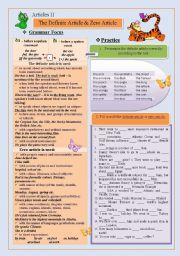 English Worksheet: Definite Article
