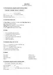 English Worksheets: Beautiful by Christina Aguilera