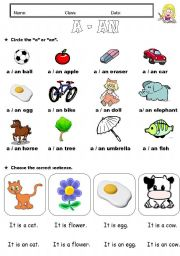 English ESL Articles: indefinite articles (a/an ...