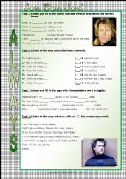 English Worksheet: Song Worksheet - Always by Jon Bon Jovi - Part 02