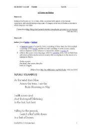 English Worksheets: Primer on Haikus
