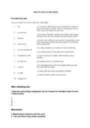 English Worksheets: post holiday syndrome