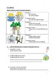 English Worksheets: Conjunction �and�, �but�, and �or�