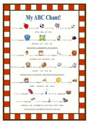 English Worksheets: My ABC Chant