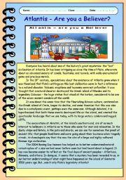 English Worksheets: Atlantis - The
