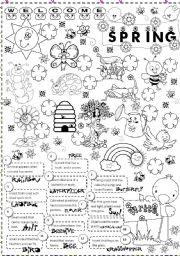 English Worksheet: spring