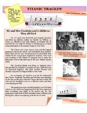 English Worksheets: Titanic tragedy