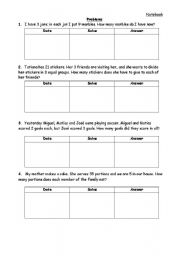 English Worksheets: Division problems