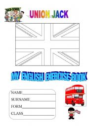 English Worksheets: EXERCISE-BOOK COVER