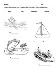 english worksheets water transport. Black Bedroom Furniture Sets. Home Design Ideas