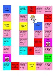 English Worksheet: Boardgame Phonetic Alphabet