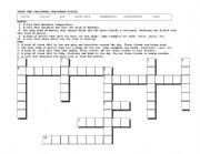English Worksheet: Weather Tools Crossword Puzzle