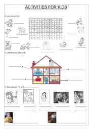 English Worksheets: ACTIVITIES FOR KIDS