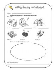 English Worksheet: means of communication