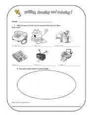 Printables Communication Worksheet english teaching worksheets means of communication communication