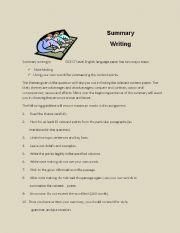 English Worksheets: summary writing