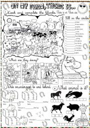 English Worksheet: the farm