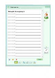 English Worksheets: Chat language part 2