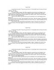 English Worksheets: Ug and Og