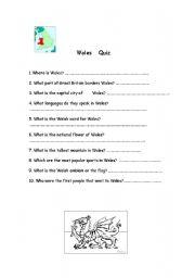 Wales Quiz