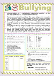 Bullying Worksheets for Kindergarten http://www.eslprintables.com/vocabulary_worksheets/school/bullying/Bullying_550984/