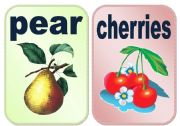 English Worksheet: Fruits flashcards set1