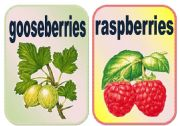 English Worksheet: Fruits flashcards set2