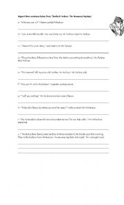 English Worksheets: Reported Speech (Statements-Commands-Questions)