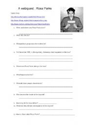 English teaching worksheets: Rosa Parks