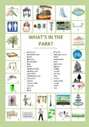 English Worksheet: What�s in the park?