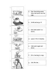 English Worksheets: writing procedure
