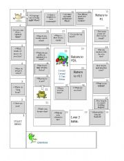 English Worksheets: Questions & Answers Board Game